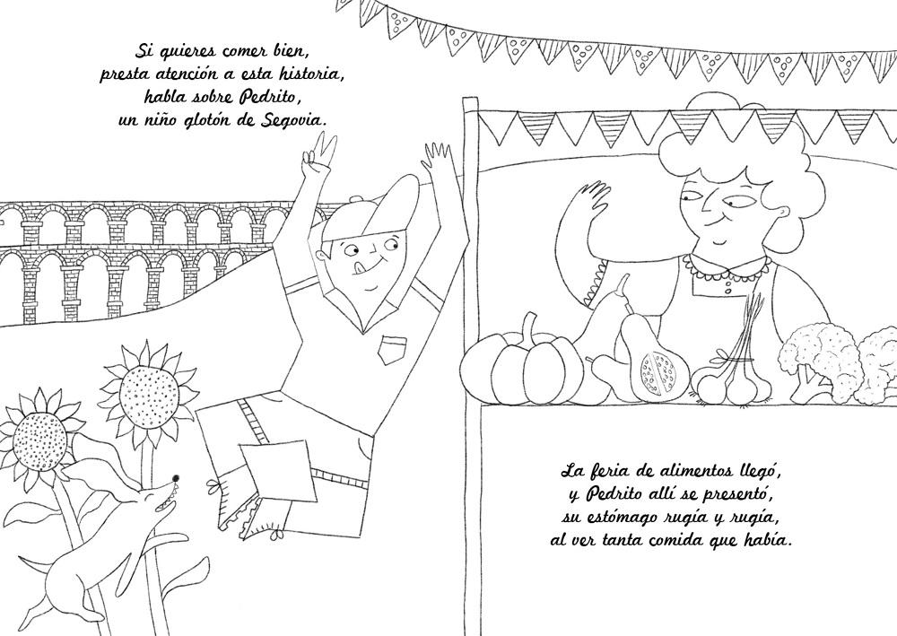 Pedrito el tragón - Marina Hdez Ávila Ilustración